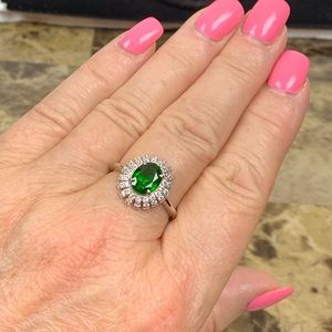 💚Genuine Russian Chrome Diopside Ring💚